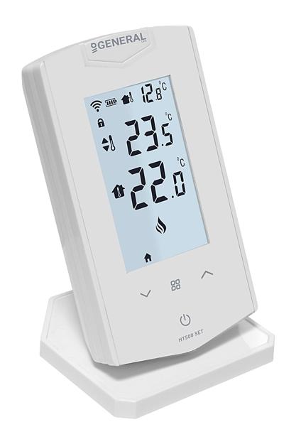 Ασύρματος Θερμοστάτης με Wi-Fi GENERAL HT 500 Set Λευκός / Μαύρος