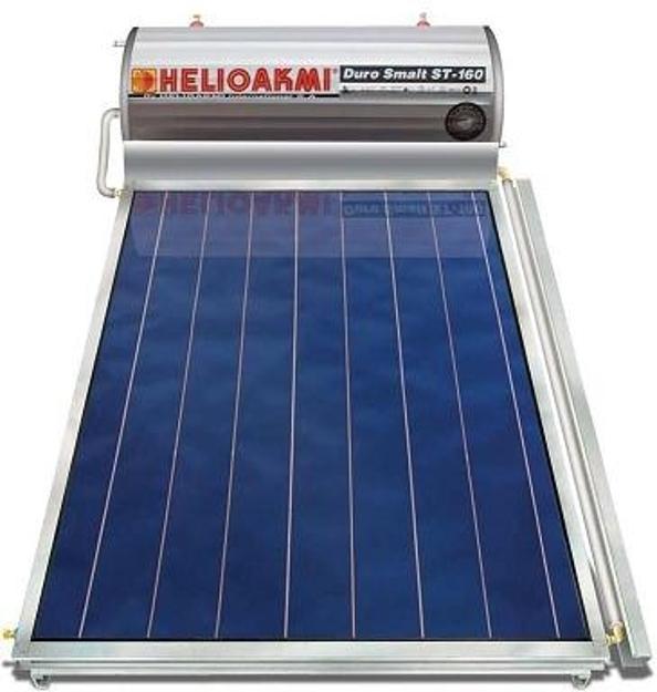 Ηλιακοί Θερμοσίφωνες, HELIOAKMI MEGASUN 160 / 2,10m², Glass Επιλεκτικής Επιφάνειας Τιτανίου Τριπλής Ενέργειας