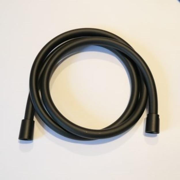 Σπιράλ Ντους PVC μαύρο ματ 1,50m