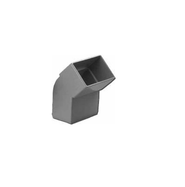 Πλαστική Γωνία Κάθετη 45˚ Υδροροής 6Χ10