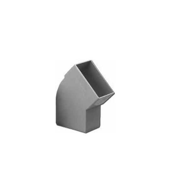 Πλαστική Γωνία Πλάγια 45˚ Υδροροής 6Χ10