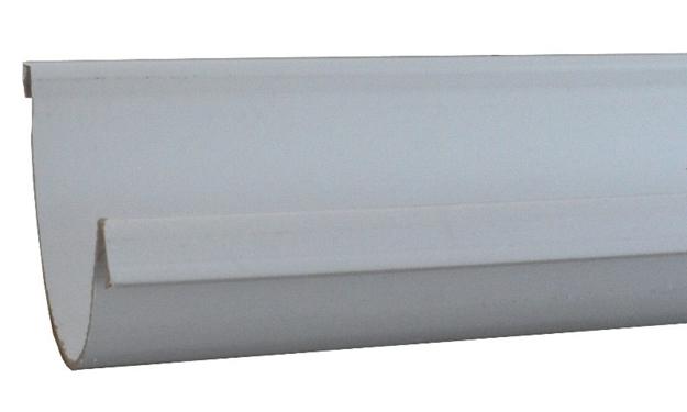 Γκρι Πλαστική Σωλήνα Ανοικτής Υδροροής Φ125 ( Λούκι )