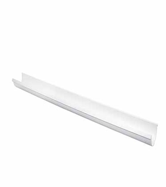 Λευκή Πλαστική Σωλήνα Ανοικτής Υδροροής Φ125 ( Λούκι )