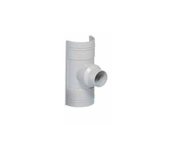 Γκρι Παροχή Πλαστικών Σωλήνων Ανοικτής Υδροροής Φ125/100x75