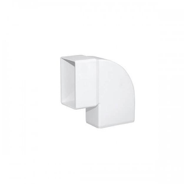 Λευκή Πλαστική Γωνία Πλάγια 90˚ Υδροροής 6Χ10, FASOPLAST