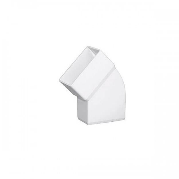 Λευκή Πλαστική Γωνία Πλάγια 45˚ Υδροροής 6Χ10, FASOPLAST