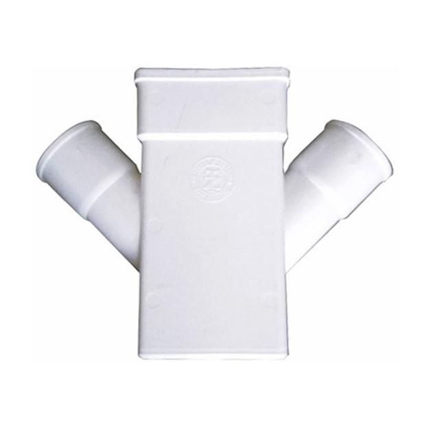 Λευκός Πλαστικός Σταυρός - Ψι Υδροροής 6x10 x Φ50, FASOPLAST