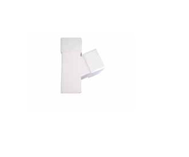 Λευκό Πλαστικό Hμιτάφ Κάθετο Υδροροής 6x10 x 6x10, FASOPLAST