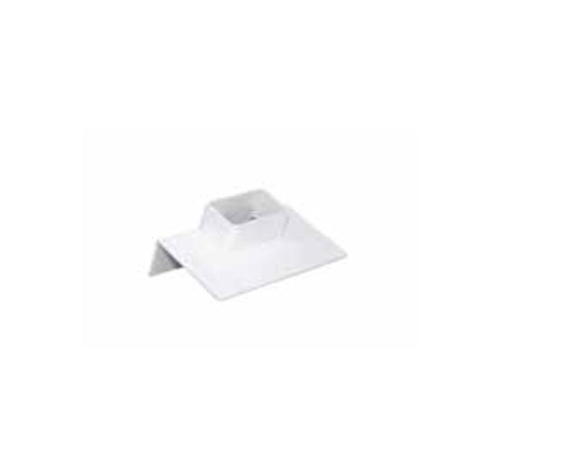 Λευκή Πλαστική Παροχή Ταράτσας Γωνιακή 6x10 , FASOPLAST