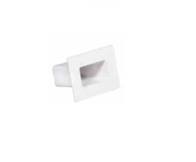 Λευκή Πλαστική Παροχή Ταράτσας Ισιά 6x10 , FASOPLAST