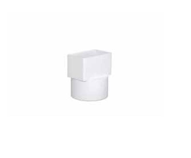 Λευκή Πλαστική Μετατροπή Υδροροής 6Χ10 Χ 6X10, FASOPLAST