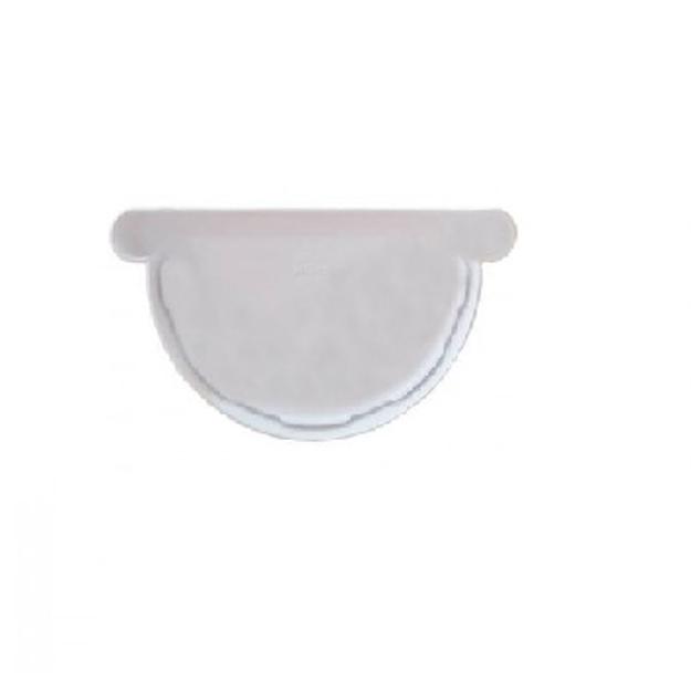 Λευκή Τάπα Πλαστικών Σωλήνων Ανοικτής Υδροροής Φ125