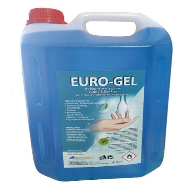 EURO-GEL Αντισηπτικό Χεριών 4LT