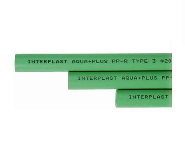 Πράσινη Σωλήνα PPR Φ20 x 3,4 INTERPLAST