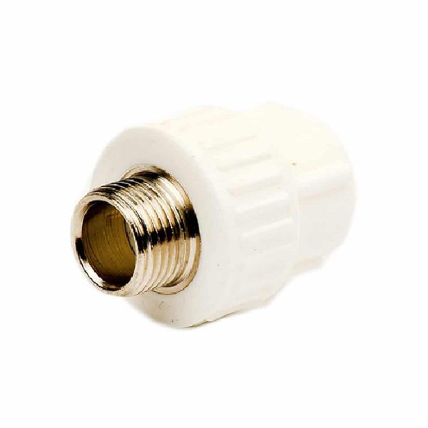 Λευκός Μαστός PPR Φ40x1 1 /4'' Αρσ. PN25, INTERPLAST