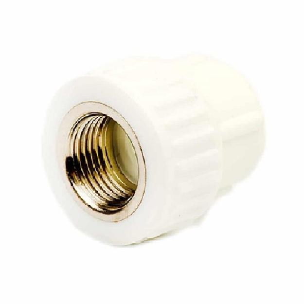 Λευκός Μαστός PPR Φ20x1/2'' Θηλυκός, INTERPLAST