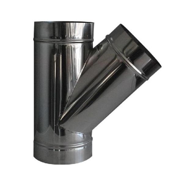 Ημιτάφ 135˚ Μονού Τοιχώματος Φ130 Inox